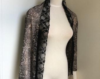Printed mesh Jacqard mesh cape
