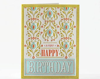 Letterpress/Happy Birthday