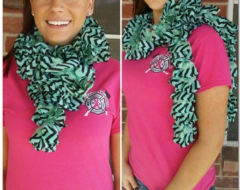 Black and Mint scarf