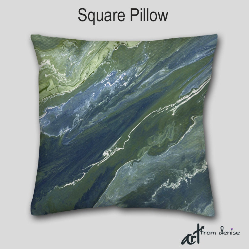 Olive Green And Blue Throw Pillows : Navy blue Abstract Throw pillow Sage green Olive