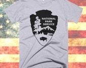 National Park Service t shirt - U.S. National Parks tee, National Park Service Arrowhead, NPS shirt, Camping, tri blend tee, Cotton, Unisex