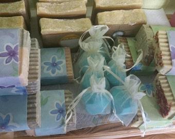 All natural,handcrafted soap, no harsh chemicals, keeps skin moisturized, best for sensitive skin