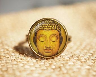 Buddha Statue Rings,buddha Statue Jewelry, Antique Style, Buddha Jewelry