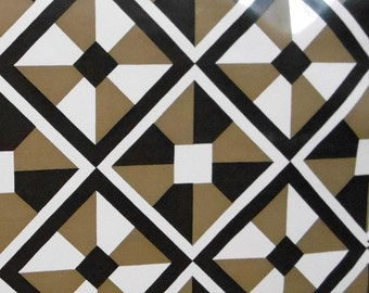 vintage designer winfield checkmate 1y x 30 inch black white gold wallpaper roll geometric retro diamond