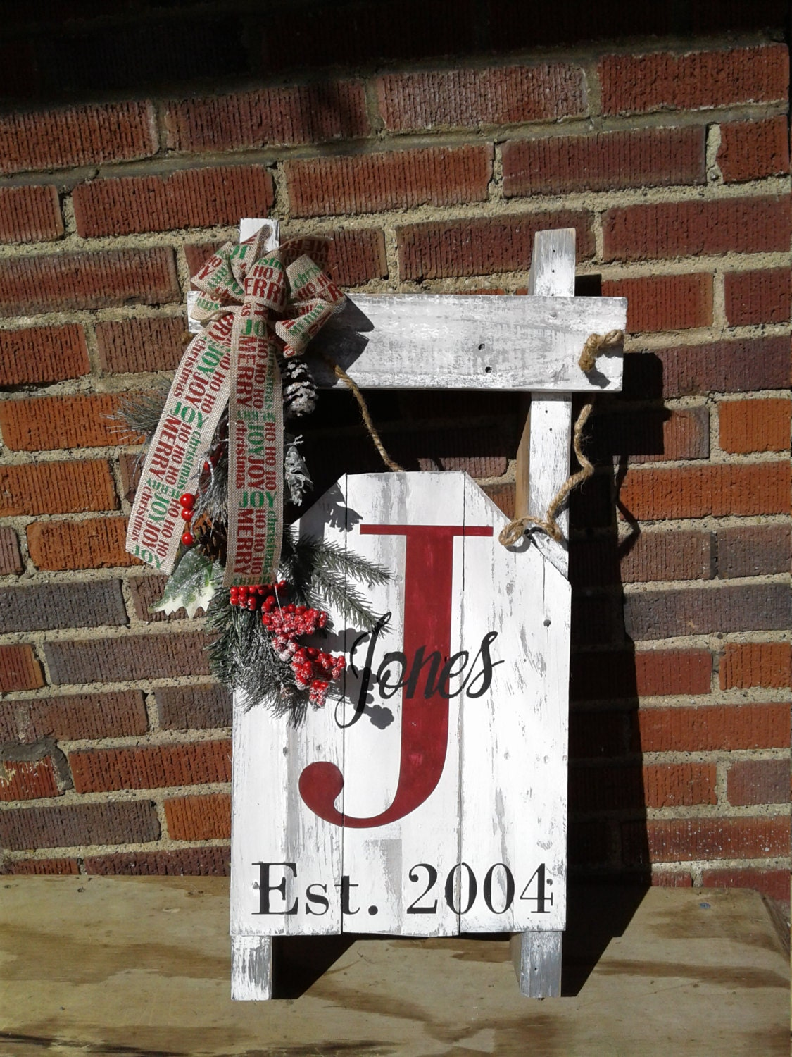 Last Name Signs Wooden Pallet