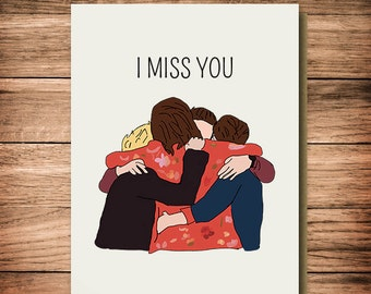 One Direction - I Miss You - Friendship Card - One Direction - For Her, Best friend, One Direction Fans