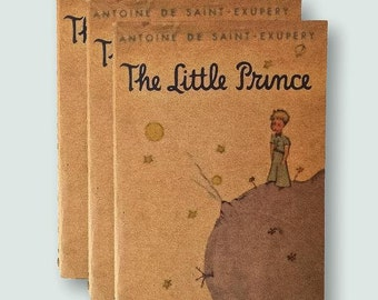 The little prince book lover gift, travel journal, gifts for her, literary gift, writing journal, bookworm gift, pocket notebooks,
