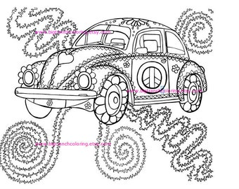 Hippie coloring book  Etsy