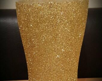 Gold pint glass