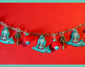 """Bracelet charms """"Snail and his house"""""""
