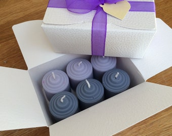 Beautifully boxed votive candles