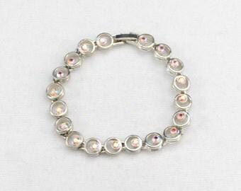 AB Rhinestone Bracelet, Vintage Rhinestone Bracelet, Bling Bracelet, Wedding Jewelry, Bridal Jewelry, Party Bracelet     J1122