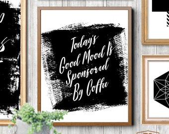 Home decor art coffee digital download coffee instant download coffee printable coffee wall art printable quotes art coffee quote