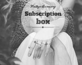 Vintage Subscription Box. Vintage Accessory Mystery Box. Accessory surprises! Boho, Unusual, Hippie, Vintage Jewelry. Casual accessories.