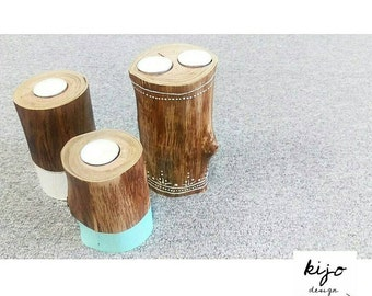 Timber Tealight Holders