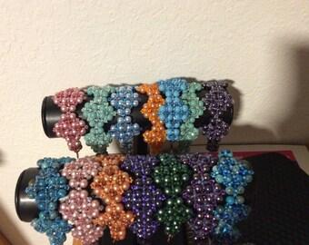 Swarovski crystal and pearl bracelets