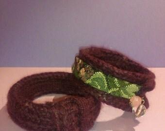 Wool cuff patterned fabric