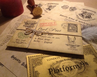 Hogwarts Acceptance Letter - Includes a FREE GOLD Hogwarts Express Ticket, high quality