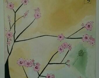 Cherry blossom trees I, II