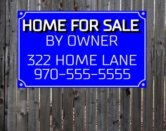 Home Fore Sale By Owner Sign, Business Banner