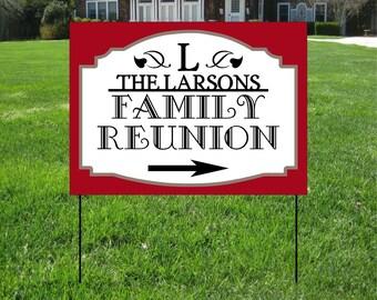 Family Reunion Yard Signs, Event Yard Sign, Custom Bag Yard Signs