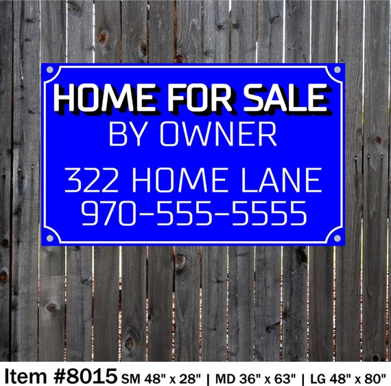 Home Fore Sale By Owner Sign Business Banner