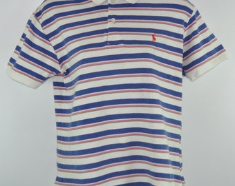 Ralph Lauren Polo Women Ringer Vintage Striped Shirt