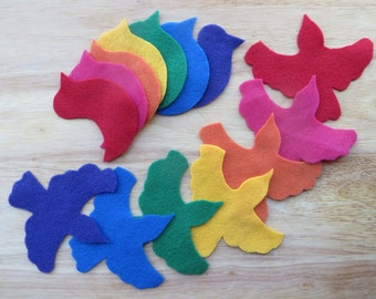 Felt Color Birds