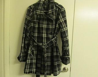 Vintage Pea Coat; Vintage Plaid Coat; Forever 21
