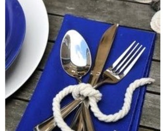White Nautical Cutlery Ties