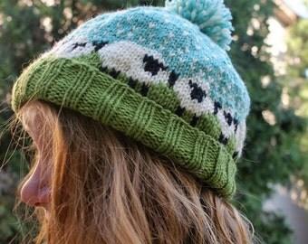 Knit Sheep Hat