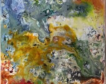 Controlled Chaos - Encaustic Painting, Encaustic Art