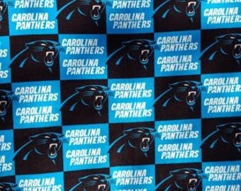 READY TO SHIP Carolina Panthers Knotted Fleece Throw With Antipill Backing