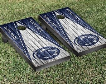 Penn State PSU Nittany Lions Cornhole Game Set Triangle Designs