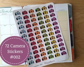 72 Camera Planner Stickers | Erin Condren Planner | Happy Planner | Plum Paper | #002