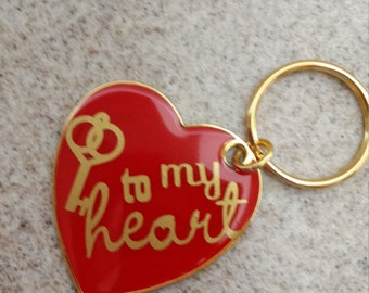 Red Heart Key Chain - Key to My Heart - Personalized - Valentine's Day