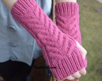 Hand Knitted Arm Warmers, Knitted Winter Gloves, Wool Gloves, Warm Gloves, Women Arm Warmers, Knitted Arm Warmers