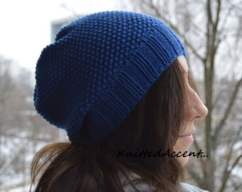 Knit Beanie Hat, Knitted Beanie Hat, Winter Hat, Merino Wool Beanie Hat, Handmade Hat, Winter Hat, Warm Hat, Hat Made To Order