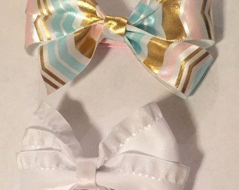 2 bows with alligator clips