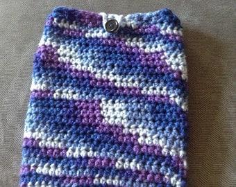 Crochet Buttoned iPad/Tablet Sleeve