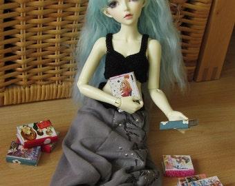 Miniature Manga Prop for BJD - Choose 3 books - fits for YoSD MNF Msd SD