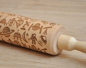 Spacer  pattern Embossed Rolling Pin Engraved rolling-pin