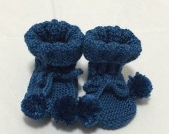 Blue Booties for one year old child  #1042