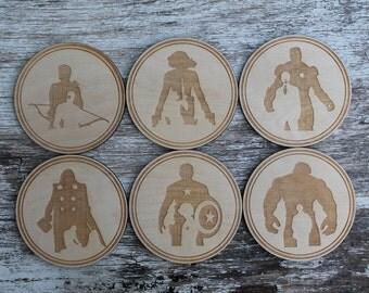 Avengers Coaster Set - set of 6 coasters