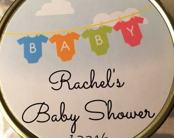 Set of 12 Baby Shower Candle Favors, 4oz, 8oz, 16oz, Mason Jar, Customized, Hand Poured