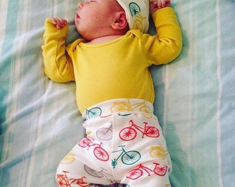 Organic Cotton Multi coloured Bicycle Baby Leggings