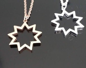 9 pointed star pendant