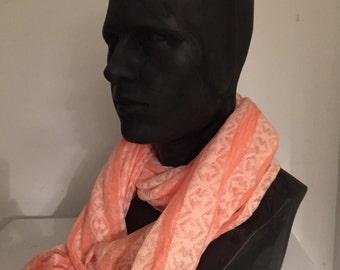Peach party scarf
