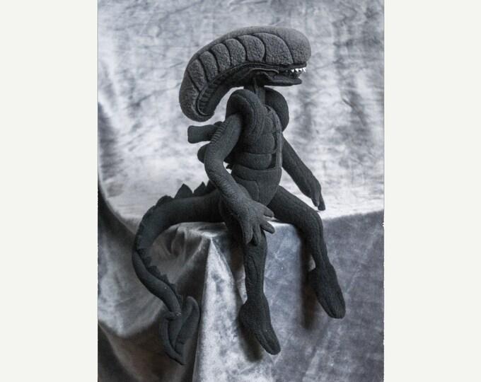 Alien Xenomorph Custom Plush Posable Toy