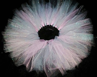 Gorgeous Pink & Silver Glitter Tutu for Newborns,Toddlers and Little Girls.